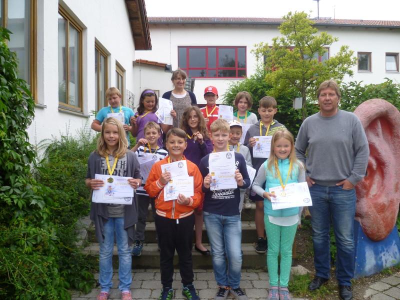 Die erfolgreichen Radfahrer der Arnschwang Grundschule