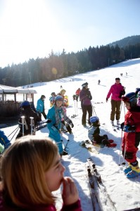 Auch eine Brotzeit gehört zu einem Skitag