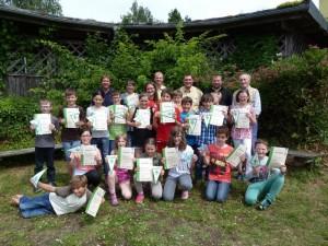 Die erfolgreichen Schüler der Volksschule Arnschwang